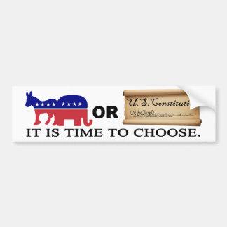 Choose the Constitution Bumper Sticker