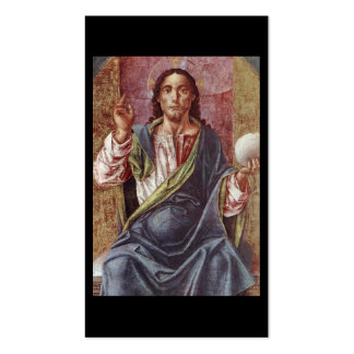 """""""Christ Enthroned"""" Circa 1450 Pack Of Standard Business Cards"""