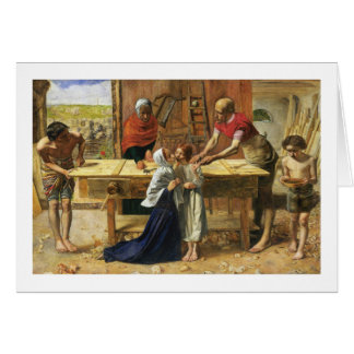 Christ in His Father's Carpenter Shop Greeting Card