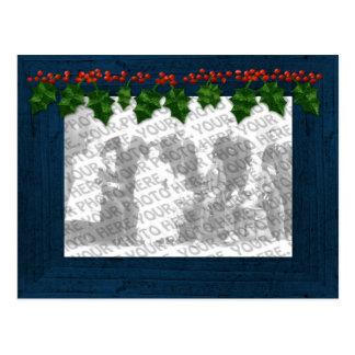 Christmas Add Your Photo Frame Postcard