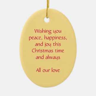 Christmas angel peace, happiness red ornament