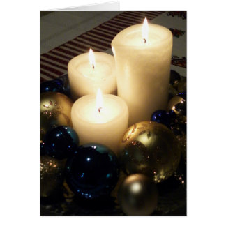 Christmas Candles Note Card