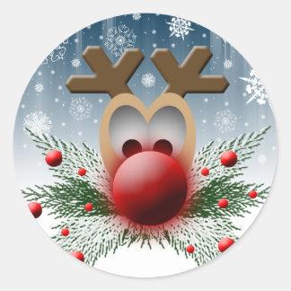 Christmas Card Envelope Seals Round Sticker
