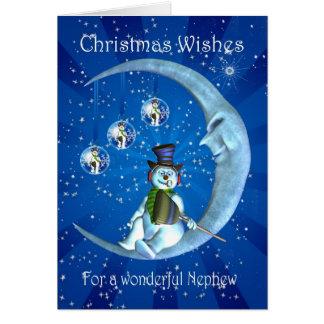 Christmas card, Nephew Christmas Greeting Card