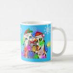 Christmas Cat Lover's Coffee Whimsical Mug