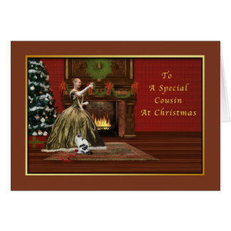 Christmas, Cousin, Old Fashioned Greeting Card