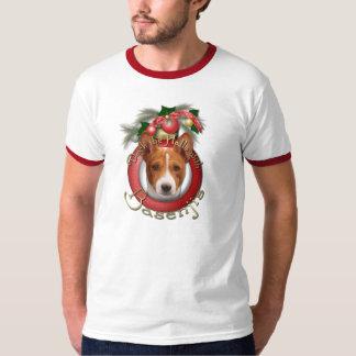 Christmas - Deck the Halls - Basenjis T-shirts