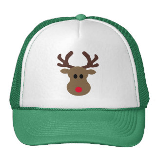 Christmas Hat with silly Rudolph reindeer