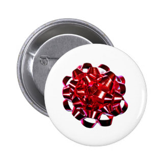 Christmas Holidays Winter Red Christmas Bow 6 Cm Round Badge