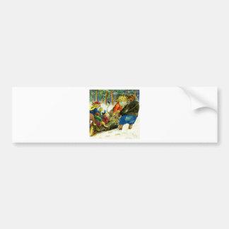 Christmas in Animal Land - The Yule Log Bumper Sticker