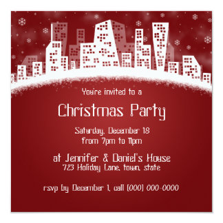 Christmas In The City Party Invitations