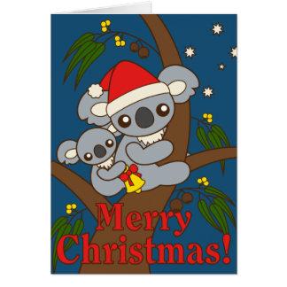 Christmas Koalas Greeting Card