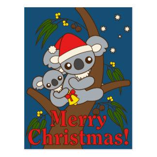 Christmas Koalas Postcard