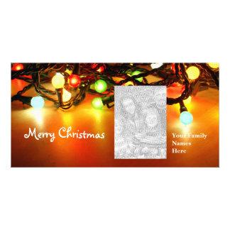 Christmas Lights template Custom Photo Card