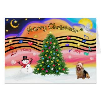 Christmas Music 2 - Australian Terrier Greeting Card