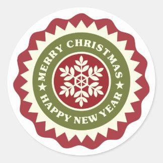 Christmas New Year Decorative Snowflake Sticker