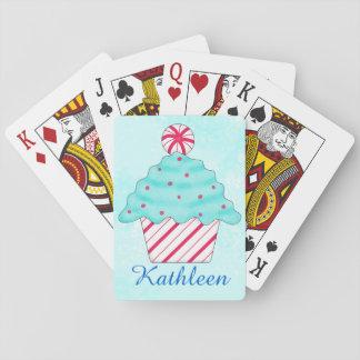 Christmas Peppermint Cupcake Art Poker Card Decks