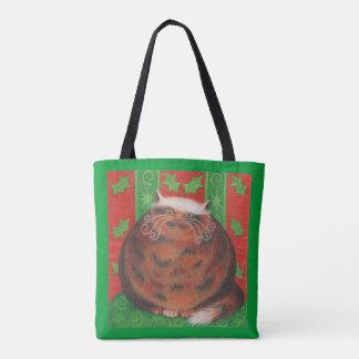 Christmas Pud all over tote bag green