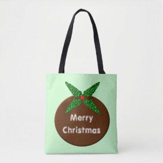 Christmas Pudding Customizable Tote Bag