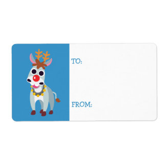 Christmas Shane the Donkey Shipping Label
