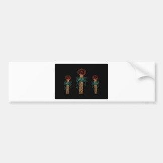 Christmas Three Candles  2016 Bumper Sticker