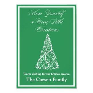 Christmas Tree Christmas Card - Holiday Card 13 Cm X 18 Cm Invitation Card