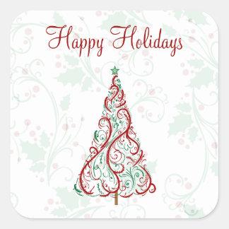 Christmas Tree Holiday Stickers