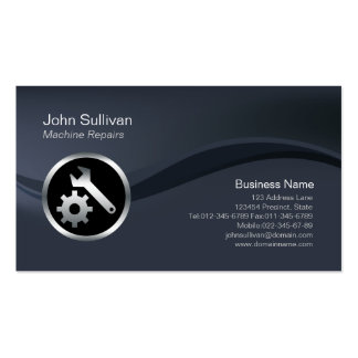 Chrome Tools Icon Machine Repairs Business Card