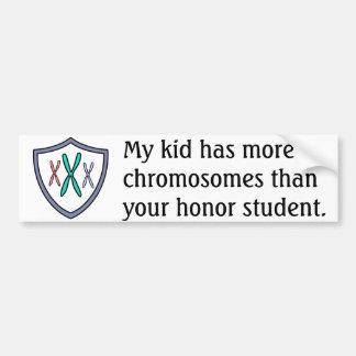 Chromosome honor student bumper sticker