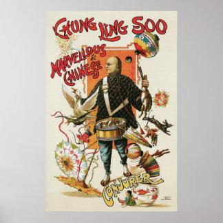 Chung Ling Soo ~ Vintage Chinese Magic Act Poster