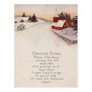 Church Christian Snow Winter Postcard