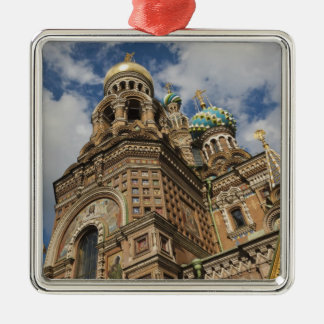 Church of the Saviour of Spilled Blood 4 Silver-Colored Square Decoration