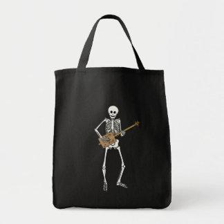 Cigar Box Guitar Skeleton Grocery Tote Bag