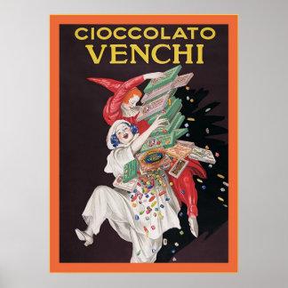 Cioccolato Venchi ~ Vintage Advertisement Poster