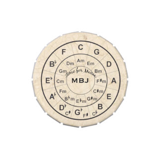 Circle of Fifths Music Lover Personalized Jelly Belly Tins