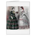 Civil War Antebellum Fashion Ladies Ball Gown Greeting Card