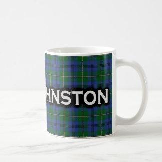 Clan Johnstone Johnston Tartan Scottish Basic White Mug