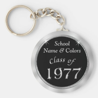 Class of 1977 Class Reunion Souvenirs YOUR TEXT Basic Round Button Key Ring