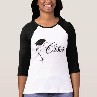 Class of 2009 Ladies Raglan Jersey T-shirts