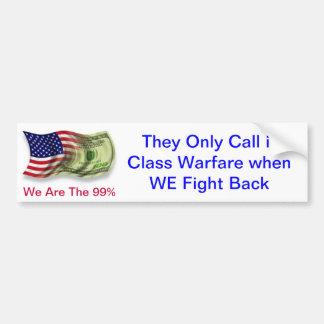 Class Warfare by the Occupy Movement 99% Bumper Sticker