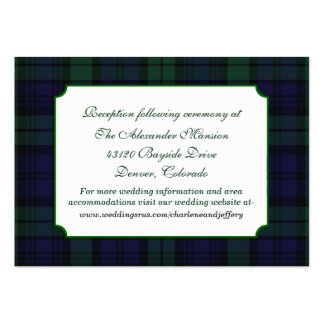 Classic Black Watch Plaid Wedding Enclosure Card Pack Of Chubby Business Cards