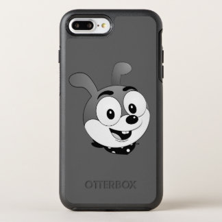 Classic Cartoon Bunny Head Dark grey OtterBox Symmetry iPhone 7 Plus Case