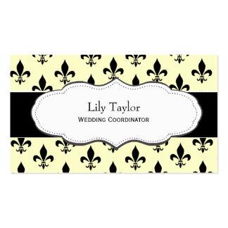 Classic Cream Fleur de Lis business cards