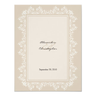 Classic Elegant Damask Wedding Announcement