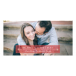 Classic Red Merry Christmas Photo Card Template