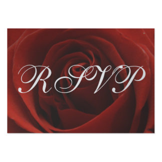 Classic Red Rose Wedding RSVP Response Card Pack Of Chubby Business Cards