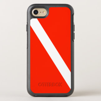 Classic Scuba Dive Flag OtterBox Symmetry iPhone 7 Case