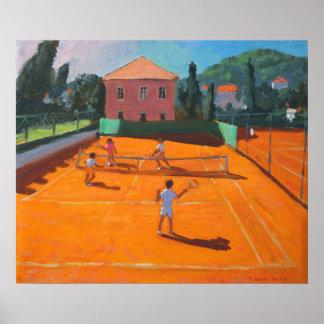 Clay Court Tennis Lapad Croatia 2012 Poster