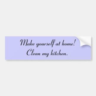 """""""Clean My Kitchen"""" Bumper Sticker"""