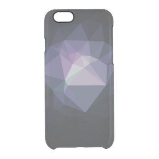 Clear low poly geometric triangles hipster crystal clear iPhone 6/6S case